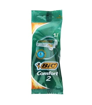 تصویر تیغ 2 لبه Comfort 2 صابوندار بیک 1 عددی