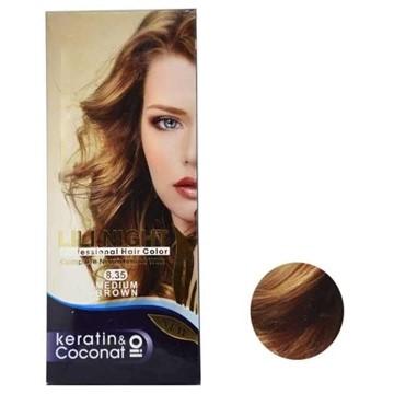 تصویر کیت رنگ مو شماره 8.35 (فندقی روشن) لی لی نایت 120 میل