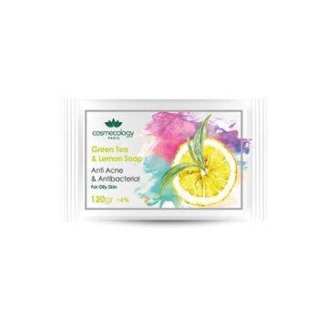 تصویر صابون چای سبز و لیمو کاسمکولوژی 120 گرم
