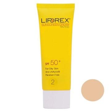 تصویر کرم ضد آفتاب رنگ بژ طبیعی پوست چرب لیپورکس 40 میل