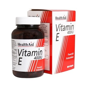 تصویر کپسول ویتامین ای 400 هلث اید 30 عددی