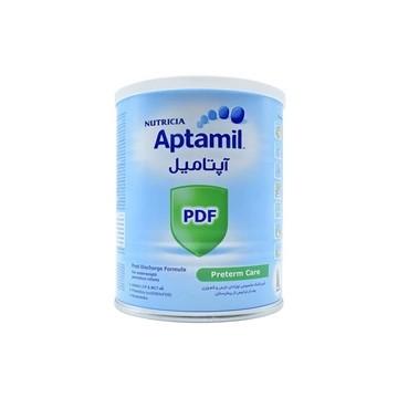 تصویر شیر خشک مخصوص نوزادان نارس آپتامیل پی دی اف نوتریشیا 400 گرم