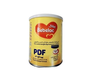 تصویر شیر خشک مخصوص نوزادان نارس و کم وزن ببلاک پی دی اف میلوپا 400 گرم