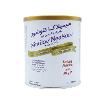 تصویر شیر خشک مناسب نوزادان نارس و کم وزن سیمیلاک نئوشور ابوت 370 گرم