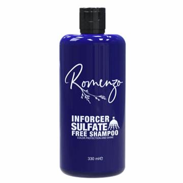 تصویر شامپو فاقد سولفات Inforcer مخصوص موهای رنگ شده رومنزو 330 میل