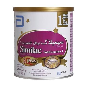 تصویر شیر خشک سیمیلاک توتال کامفورت 1 ابوت 360 گرم