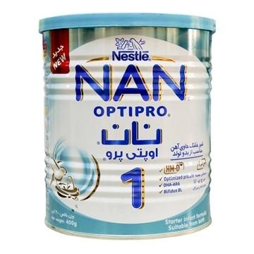 تصویر شیر خشک نان ۱  مناسب نوزادان 0 تا 6 ماه نستله 400 گرم