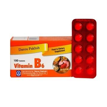تصویر قرص ویتامین B6 دارو پخش 100 عدد
