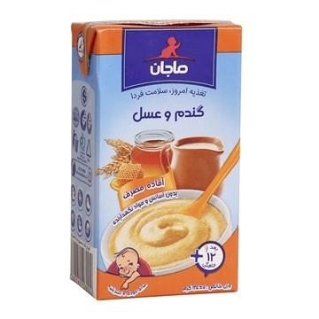 تصویر فرنی گندم و عسل مناسب کودکان از 12 ماهگی به بعد ماجان 135 گرم